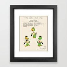 Jose Carioca Cartoon Patent Framed Art Print