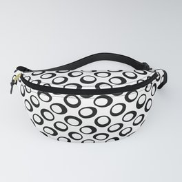Black and White 8 Fanny Pack