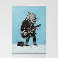 rhino Stationery Cards featuring Rhino by Ronan Lynam