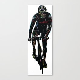 Triathlete in Cycling Canvas Print