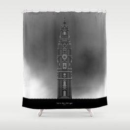 HexArchi - Portugal, Porto, Igreja dos Clérigos . Torre Shower Curtain