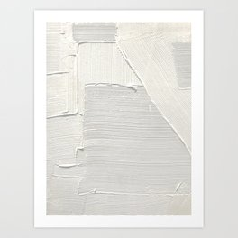 Relief [2]: an abstract, textured piece in white by Alyssa Hamilton Art Art Print