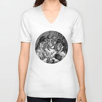 sister V-neck T-shirts featuring SISTER  by DIVIDUS