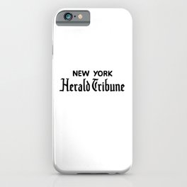 new york herald tribune iPhone Case