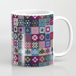 Checkered Patchwork Tile Pattern Coffee Mug