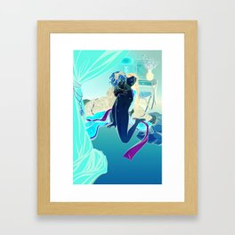 Geisha Doll Framed Art Print