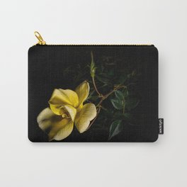 Yellow rose on black -3 Carry-All Pouch
