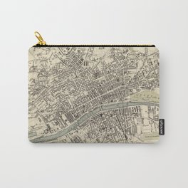 Vintage Map of Glasgow Scotland (1872) Carry-All Pouch