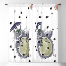 Totoro&Chibi Blackout Curtain