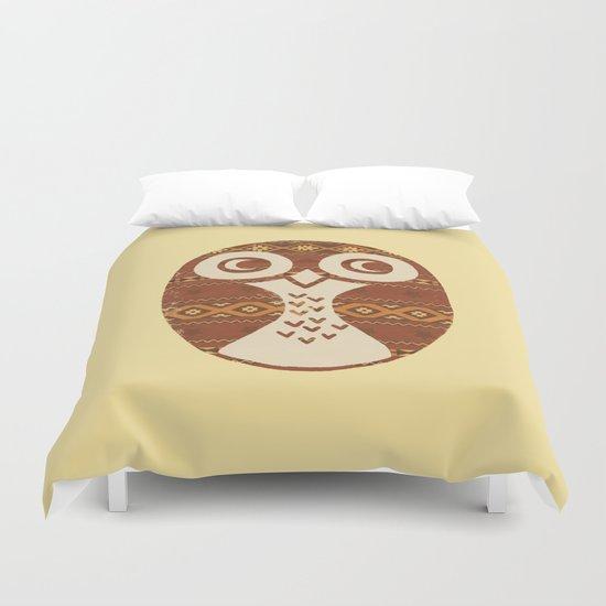 Navajo Owl  Duvet Cover