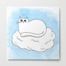 People Worship Giant Cat In The Sky Metal Print