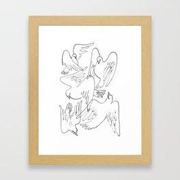 Doves flying Framed Art Print