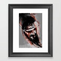 against Framed Art Print