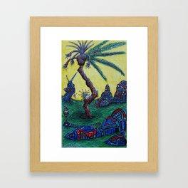 Alien Tree 4 Framed Art Print