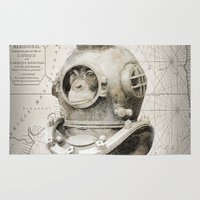 scuba Area & Throw Rugs featuring scuba diving by PRIMATE
