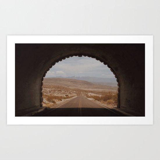 Big Bend Tunnel, Texas Art Print