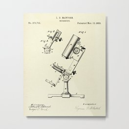 Microscope-1883 Metal Print