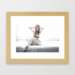 HK_white light Framed Art Print