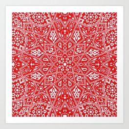 Amirah Red Art Print