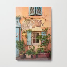 Rustic Wall in Marseille's Old Town Metal Print