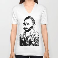 van gogh V-neck T-shirts featuring Van Gogh by ISHTAR