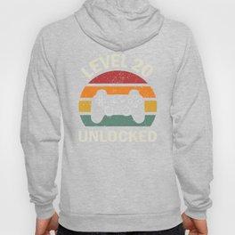 20th Birthday Shirt, Level 20 Unlocked, Video Game Shirt, Gaming Shirt, Video Game Shirt, Gamer Tee Hoody