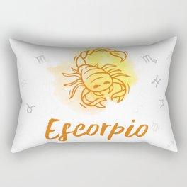Zodiac signs collection - Scorpio/Escorpio Delvallediseno Rectangular Pillow