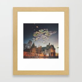Lily Pad Clouds Framed Art Print
