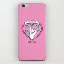 Pinkies Up, Bitches iPhone Skin