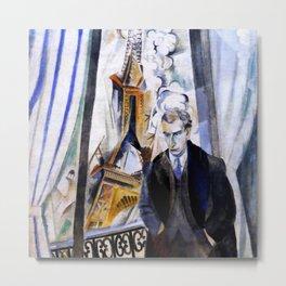 "Robert Delaunay ""Le Poète Philippe Soupault"" Metal Print"