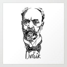 Antonin Dvorák - composer Art Print