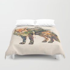 The Fox Nature Surrealism Duvet Cover