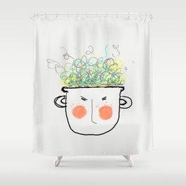 Boiling Frustration Shower Curtain