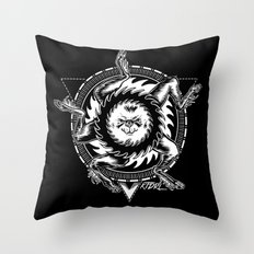 Buer white Throw Pillow