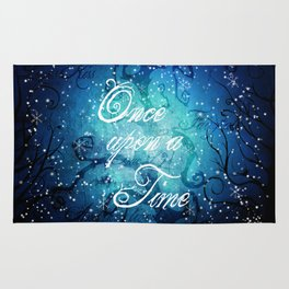 Once Upon A Time ~ Winter Snow Fairytale Forest Rug