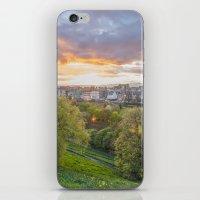 edinburgh iPhone & iPod Skins featuring EDINBURGH by Marte Stromme