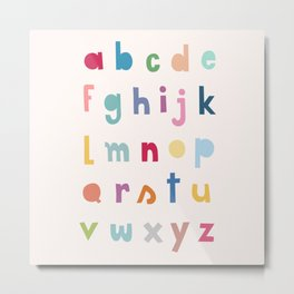 ABC alphabet art Metal Print