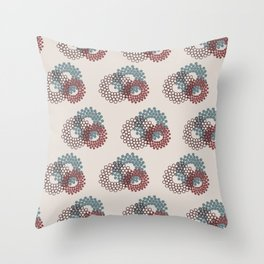 Flower Power surface pattern (blue-purple) Throw Pillow