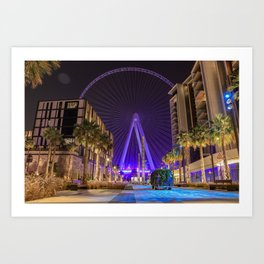 LIGHTING CITY Art Print