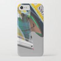 senna iPhone & iPod Cases featuring Senna Meditation by Borja Sanz