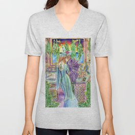 Witch In Her Study Unisex V-Neck