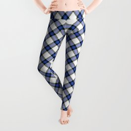 Blue Tartan Leggings