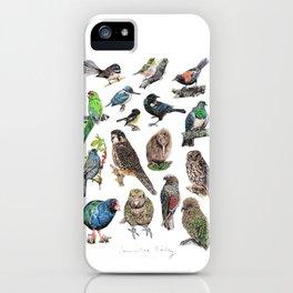 Native NZ Birds iPhone Case