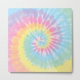 Pastel Tie Dye Metal Print