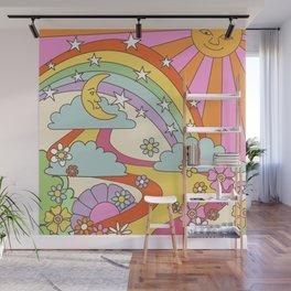 retro hippie boho print  Wall Mural