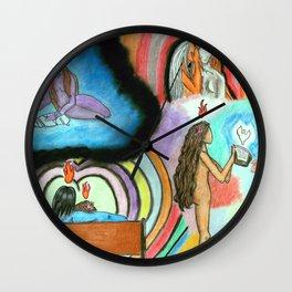 Fear and Detachment Wall Clock