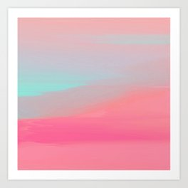 Rose Quartz Haze Art Print