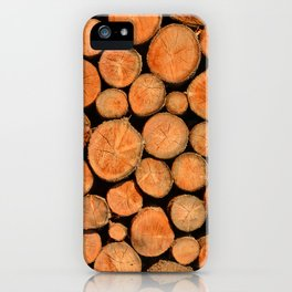stack of wood iPhone Case