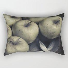 Still life with green apples Rectangular Pillow