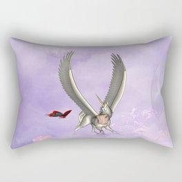 Cute little pegasus with butterflies Rectangular Pillow